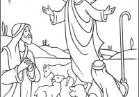 Christmas Coloring Pages Shepherds With Angels Gloria Page Catholic For