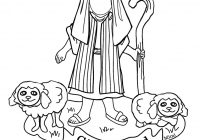 Christmas Coloring Pages Shepherds With Bible Kids Shepherd Boy Sheep Color Page To Flickr