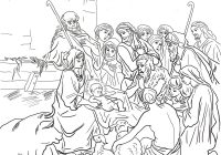 Christmas Coloring Pages Shepherds With Nativity Scene Holy Family And Animals Page