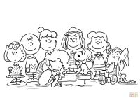 Christmas Coloring Pages Snoopy With Charlie Brown Page Peanuts Gang Nazly Me