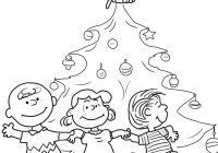 Christmas Coloring Pages Snoopy With Charlie Brown Tree Page Free Printable