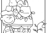Christmas Coloring Pages Snoopy With Holidays Pinterest Charlie