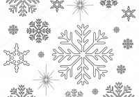 Christmas Coloring Pages Snowflakes With Page Stock Photo Smk0473 128972644