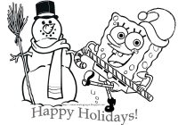 Christmas Coloring Pages Spongebob With Book SPONGEBOB SQUAREPANTS CHRISTMAS COLORING