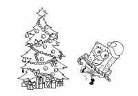 Christmas Coloring Pages Spongebob With In Pictures Free Printable Best
