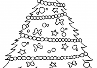 Christmas Coloring Pages Tree With Of Valid Page