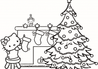 Christmas Coloring Pages Trees With Big Valid