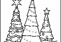 Christmas Coloring Pages Trees With Blank Free Printable Tree