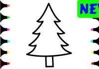 Christmas Coloring Pages Trees With Tree For Kids Painting And Drawing