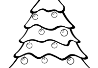 Christmas Coloring Pages Trees With Tree Ornaments Print Color Fun Free Printables