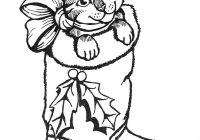 Christmas Coloring Pages With Cats Kitty Cat Page Best Of 28 Collection