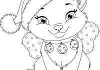Christmas Coloring Pages With Cats Luxury Kitty Cat Kids