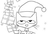 Christmas Coloring Pages With Cats Pete The Cat Saves Page From