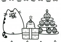 Christmas Coloring Pages With Cats Pusheen The Cat Free Books