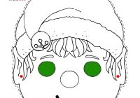 Christmas Coloring Pages With Instructions Elf Mask Printable Page More Fun Activities And