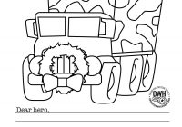 Christmas Coloring Pages With Instructions FREE Military For Operation Write Home