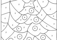 Christmas Coloring Pages With Numbers Color By Number Ironenclave Com