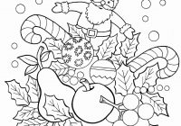 Christmas Coloring Pages With Numbers For 9 Year Olds Printable Page