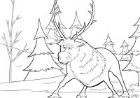 Christmas Coloring Pages With Reindeer