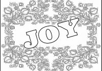 Christmas Coloring Pages With Words Joy Page A Free New Dechome Me
