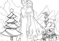 Christmas Coloring Pics With Frozen Pages