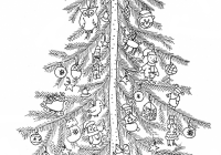 Christmas Coloring Pictures For Adults With Simple Tree From The Gallery Events