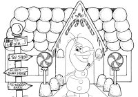 Christmas Coloring Pictures To Print Out With Frozen Pages