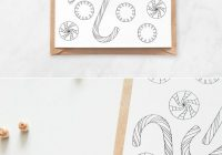 Christmas Coloring Postcards With Candy Postcard Handmade Items From Our Members