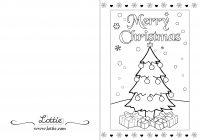 Christmas Coloring Postcards With Cards Idig Me