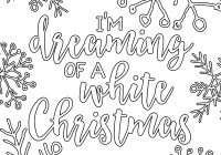 Christmas Coloring Things With Free Printable White Adult Pages Our