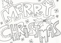 Christmas Coloring To Print With Merry Pages Download And For Free