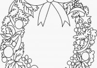 Christmas Coloring Wreath With Pages Archives In Within 7 Tgm Sports And