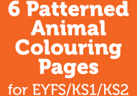 Christmas Colouring In Pages Twinkl With 6 Patterned Animal Early Years Foundation Stage