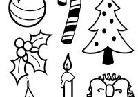 Christmas Colouring In Pages With Symbols Of Coloring Page