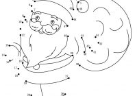 Christmas Colouring Pages Dot To With 24 Free Printable Worksheets For Kids