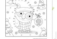 Christmas Colouring Pages Dot To With And Coloring Page Owl Stock Vector