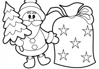 Christmas Colouring Pages Easy With Coloring Refrence
