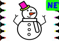 Christmas Colouring Pages Easy With How To Draw Snowman Step By For Kids Coloring