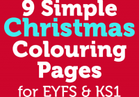 Christmas Colouring Pages Eyfs With 9 Simple Early Years Foundation Stage