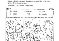 Christmas Colouring Pages Eyfs With Color By Numbers Nativity Children S Church Pinterest Sunday