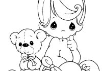 Christmas Colouring Pages For Babies With Free Printable Baby Coloring Kids