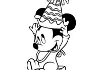 Christmas Colouring Pages For Babies With Mickey Mouse Coloring