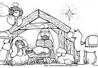 Christmas Colouring Pages For Babies With Unique Baby Jesus In A Manger Coloring Collection Free