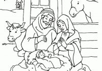 Christmas Colouring Pages Jesus With Religious Is Born Coloring Free Printable