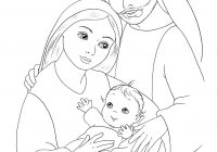 Christmas Colouring Pages Mary And Joseph With Jesus Coloring Page Sunday School