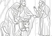 Christmas Colouring Pages Mary And Joseph With No Room At The Inn For Coloring Page Free