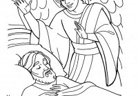 Christmas Colouring Pages Mary And Joseph With The Angel Visits Coloring Page Holiday Pinte