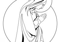 Christmas Colouring Pages Mary And Joseph With Virgin Coloring Hellokids Com