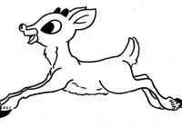 Christmas Colouring Pages Rudolph With Olive The Other Reindeer Coloring Page Free