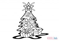 Christmas Colouring Pages Tree With Free Download To Get The Little Ones In